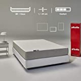 Pikolin Leah, colchón viscoelástico y espuma HR gama alta, 150x200, firmeza alta, confort visco, calidad máxima, protección higiénica total