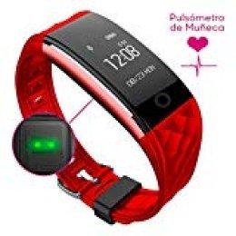 Woxter Smartfit15. Pulsera Actividad. Control pulsaciones, sueño. App BT. Rojo