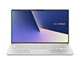 "ASUS ZenBook 14 UX433FA(New)-A5243T - Portátil de 14"" (i7-8565U, 8GB RAM, 256GB SSD, Windows 10 Home) Metal Plata Carámbano - Teclado QWERTY español"