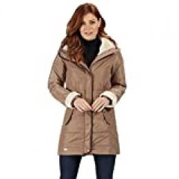 Regatta Patchouli Water Repellent & Thermo-Guard Insulated Faux Fur & Leatherette Trim Fashion Hooded Winter Jacket Chaquetas Acolchadas, Mujer, Toffee, 8