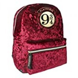 Mochila Casual Moda Terciopelo Harry Potter