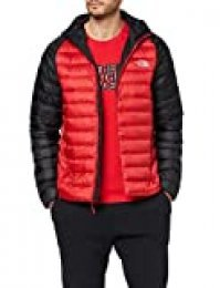 The North Face Trevail Hoodie Chaqueta de Plumón, Hombre, Rojo (TNF Red/TNF Black), 2XL