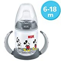 NUK 10215269 Disney Mickey Mouse First Choice Biberón, sin BPA, a partir de 6 meses, 150 ml, gris, Gris