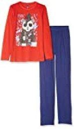 Lenny Sky EG.Will.py2 Pijama, Rojo (Rouge/Marine Rouge/Marine), 10 años (Talla del Fabricante: 10 Y) para Niños