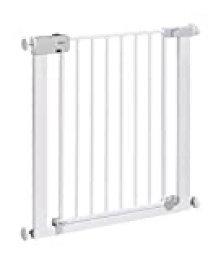 Safety 1st Easy Close Metal Barrera de seguridad metalica para puertas y escaleras, Puerta de seguridad 80 cm hasta 136 cm con extensiones, barrera escalera bebe, ninos y perros, Blanco
