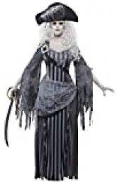 Smiffy's Smiffys- Disfraz de Princesa de Ghost Ship, Gris, con Vestido y Sombrero, Color, M - EU Tamaño 40-42 22970M