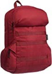 AmazonBasics - Mochila de lona para portátil de hasta 15 pulgadas (38 cm) - rojo profundo