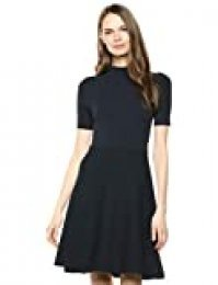 Marca Amazon - Lark & Ro Matisse Half Sleeve Funnel Neck Cut out Dress Mujer