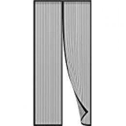 Anpro mosquito puerta mosquitera puerta 90 x 210cm, protección de insectos cortina magnética mosca cortina para sala de estar balcón, negro