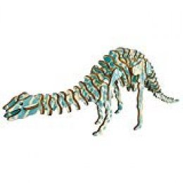 Artibetter Rompecabezas de Dinosaurios 3D Rompecabezas de Madera DIY montado Modelo niños Adultos Juguetes colección decoración (Diplodocus)
