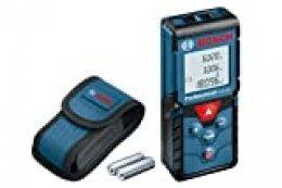 Bosch Professional Medidor láser de distancia GLM 40 (función de memoria, máx. distancia: 40 m, 2 pilas de 1,5 V, funda)