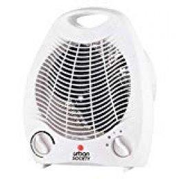 urban society Calefactor eléctrico con 2 Niveles de Potencia,Termostato Regulable, Proteccion contra sobrecalentamiento .2000W