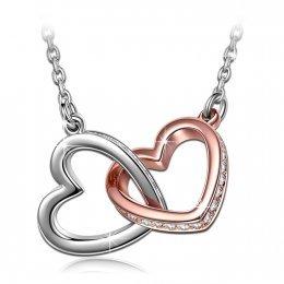 Kami Idea Destino Collar para Mujer con Cristales Swarovski Corazón ,Viene con Caja de Regalo, sin Níquel