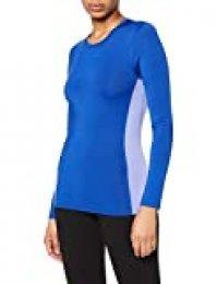 Activewear Camiseta Técnica Manga Larga para Mujer , Azul (Surf The Web/deep Periwinkle), 38 (Talla del Fabricante: Small)