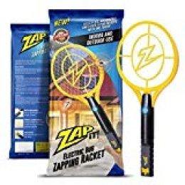 ZAP IT! para Exterminador-Raqueta matamosquitos-Carga USB de 4000 voltios, Luz LED superbrillante para Golpear en la Oscuridad, Amarillo