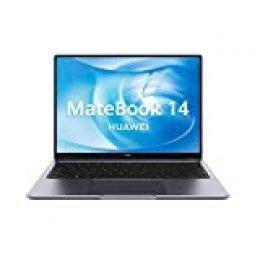Huawei Matebook 14 - Ordenador Portátil Ultrafino de 14'' 2K (Intel core i7-10510U, 16GB RAM, 512GB SSD, GeForce MX350-2GB, Windows 10 Home) Gris - Teclado Qwerty Español