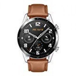 """Huawei Watch GT2 - Smartwatch con Caja de 46 Mm (hasta 2 Semanas de Batería, Pantalla Táctil Amoled de 1.39"""", GPS, 15 Modos Deportivos, Llamadas Bluetooth) Pebble Brown"""