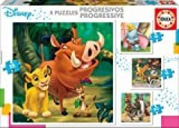 Educa Borrás- Puzzles Progresivos Dumbo, Bambi, Lion King, El Libro de la Selva, Color variado, Talla Única (18104) , color/modelo surtido