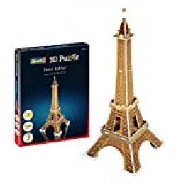 Revell- Torre Eiffel 3D Puzzle, Multicolor (00111)