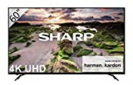 "Sharp LC-60UI9362E - Smart TV Slim UHD de 60"" (resolución 3840 x 2160, HDR+, Sonido Harman/kardon, 3X HDMI, 3X USB, Active Motion 800) Color Negro"
