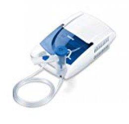Beurer IH 21 Inhalador eléctrico con accesorio para nariz y compartimento, color blanco y azul, 30 x 18 x 10 cm, 1.65 kg