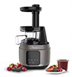 Moulinex Juice and Clean ZU420A10 - Licuadora para Frutas y Verduras, Control Pulpa Ajustable, Prensado Frío y Fácil Limpieza, Panel Manual, 2 Filtros y Boquilla Antigoteo