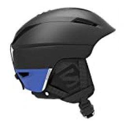 Salomon Pioneer C Casco de esquí y Snowboard para Hombre, Custom Air, Interior de Espuma EPS 4D, Circunferencia, Negro/Azul (Black/Race Blue), S (53-56 cm)