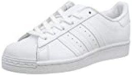 Adidas Originals Superstar J, Zapatillas de Básquetbol Unisex-Child, Footwear White/Footwear White/Footwear White, 35.5 EU