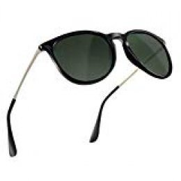 NWOUIIAY Anteojos de Sol de Hombres y Mujeres Modelo Clásico Casual con Lente TAC 100% UV 400 de Marco de Nylon Lentes de Ojo de Material Liviano pero Duradero (Verde oscuro)