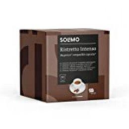 Marca Amazon - Solimo Cápsulas Ristretto Intenso, compatibles con Nespresso - café certificado UTZ, 100 cápsulas (2 x 50)