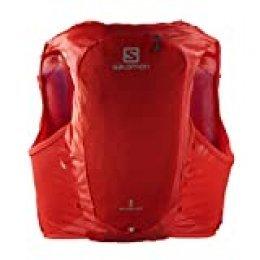 SALOMON ADV Hydra Vest 8 Chaleco de hidratación 8L, 2 Botellas SoftFlask 500 ml Incluidas, Unisex-Adult, Rojo, L
