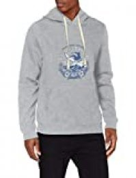 Izod Printed Graphic Hoodie Capucha, Gris (Light Grey Htr 052), Large (Talla del Fabricante: LG) para Hombre