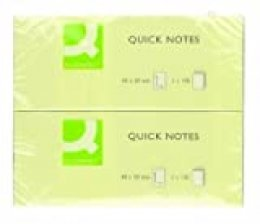 KF10500 - Bloc de notas adhesivas quita y pon Q-connect 40x50 mm con 100 hojas, 12