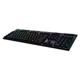 Logitech G915 Teclado Gaming Mecánico Inalámbrico Lightspeed, 2,4 GHz/Bluetooth, Teclas RGB Retroiluminadas, Romer-G Táctil, 9 Teclas Programables G-Keys, Arx Dual Display, Disposición QWERTY Español