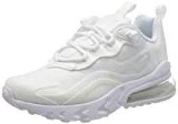 Nike Air MAX 270 React (GS), Zapatillas para Correr para Niños, White White Mtlc Silver White, 39 EU