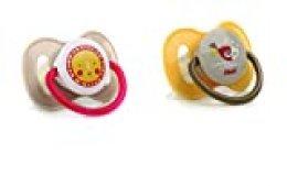 Jané Chupete Anatómico en Látex, 2 unidades, a partir de 0 meses, Libre de BPA, Incluye 2 Colores