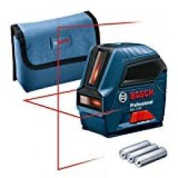 Bosch Professional 0601063L00 Nivel GLL 2-10, láser Rojo, Interior, Alcance 10 m, con Funda, en Caja