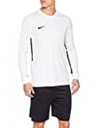 NIKE M NK Dry Tiempo Prem JSY LS Long Sleeved t-Shirt, Hombre, White/White/Black/Black, XL