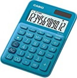 Casio MS-20UC-BU - Calculadora, 2.3 x 10.5 x 14.95 cm, color azul