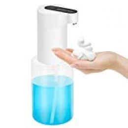 Dispensador de Jabón automático, 350 ml, no Touch Espuma Dispensador de Jabón con Sensor Infrarrojo, Dispensador de Jabón para Baño y Cocina
