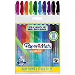 Paper Mate InkJoy 100ST - Bolígrafos envolventes, punta mediana de 1.0 mm, paquete de 20, colores surtidos fantasía