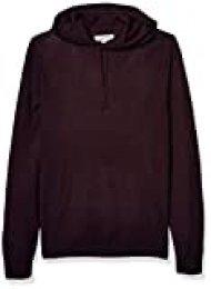 Goodthreads Merino Wool Pullover Hoodie Sweater sweaters, Burgundy, US S (EU S)