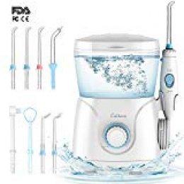 CEITURA Irrigador Dental Profesional con 8 boquillas multifuncionales, 10 niveles de presión ajustables y depósito de gran capacidad de 600 ml, recomendado para adultos y niños