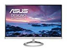 "ASUS Designo MX279HE - Monitor Ultrafino de 27"" Full HD (1920 x 1080, 16:9, panel IPS, Low Blue Light, Sin marco, 5 ms, 76 Hz, Flicker-Free, Adaptive-Sync), negro plata"