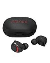 Mini Auriculares Bluetooth, AIRAUX Bluetooth 5.0 Mini Twins Estéreo In-Ear Auriculares Inalámbricos Auriculares Wireless Impermeable IPX6 con Estuche de Carga, Micrófono Incorporado(Negro)