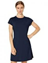 Core 10 Soft Workout Cap Sleeve Tennis Dress, Navy/Black Heather, 1X (14W-16W)
