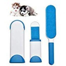 Yizhet Mascotas Cepillo Remueve-Pelusa Mágico-Removedor de Pelaje de Mascota- Reutilizable Pelo Tejido Quitapelusas Cepillo para Gatos, Perro y Muebles Pelo (Azul)