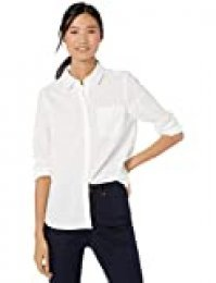 Goodthreads Washed Cotton Boyfriend Shirt button-down-shirts, Blanco Brillante, US (EU XS-S)