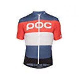 POC Essential Road Logo Maillot, Unisex Adulto, Multicolor (prismane Multi Red), XS