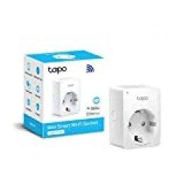 TP-Link Tapo P100 - WiFi Enchufe Inteligente Mini tamaño para Controlar su Dispositivo Desde Cualquier Lugar, sin Necesidad de Concentrador, Funciona con Amazon Alexa y Google Home e IFTTT, 1 Pack
